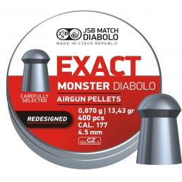 Пули JSB EXACT Monster Diabolo Redizained 4.52 мм (400 шт.)